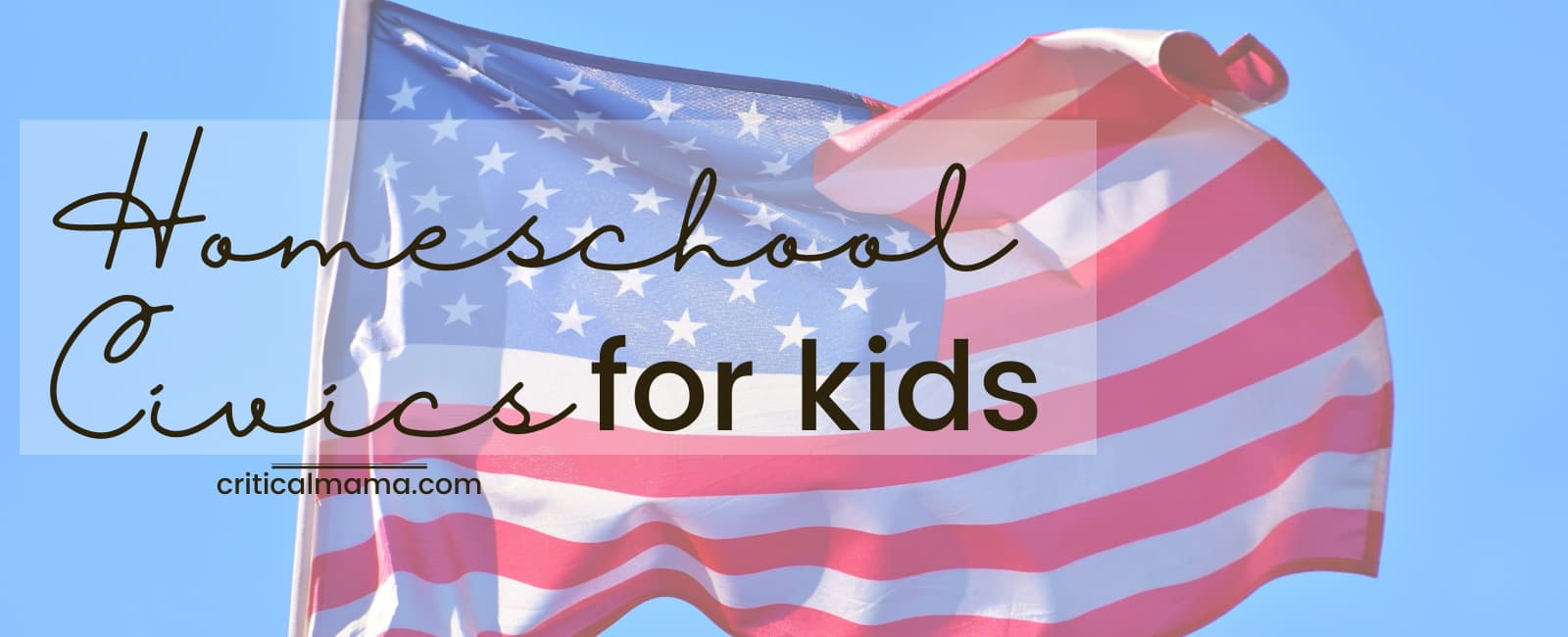 Homeschool Civics For Kids