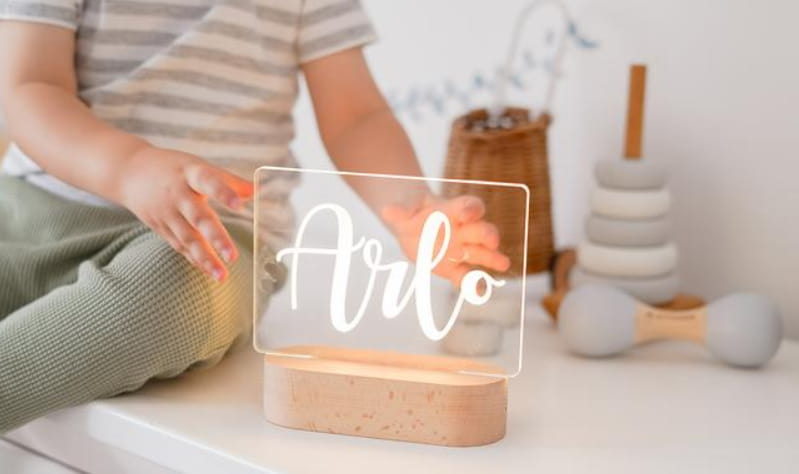 Personalized Name Baby Night Light