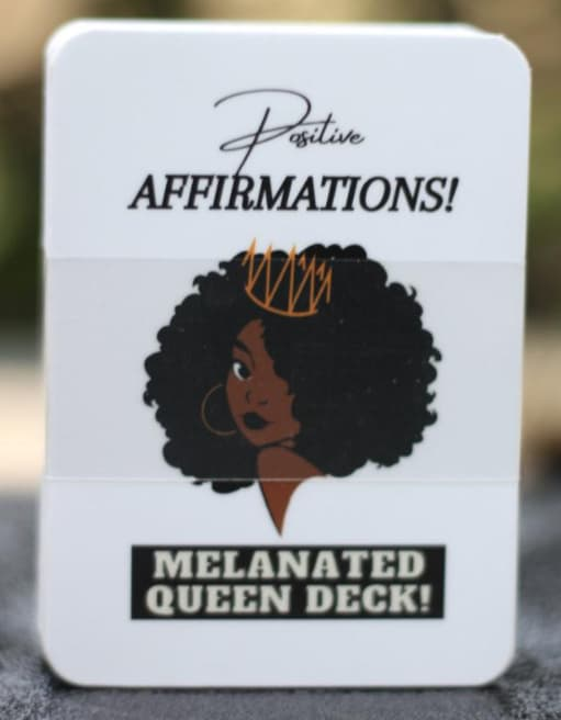 Melanated Queen Affirmation Card Deck