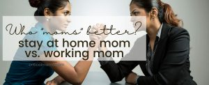 Arm Wrestling Stay At Home Mom Vs. Working Mom