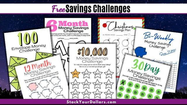 FREE Money Savings Challenges