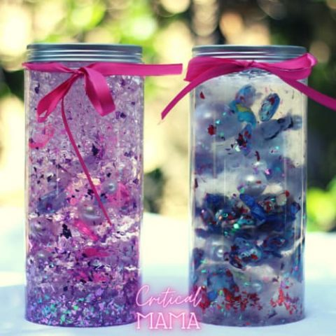 Completed Valentine's Day Sensory Jars