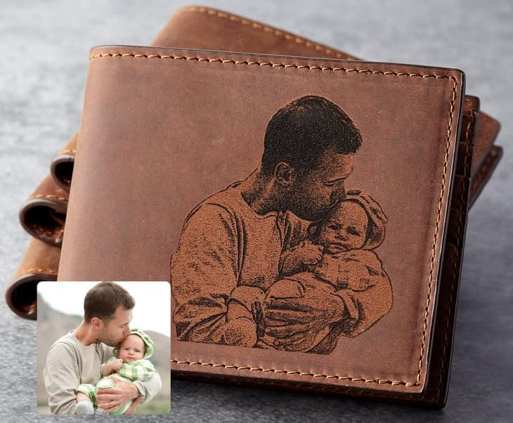 Personalized Wallet Valentine Gift For Dad From Children