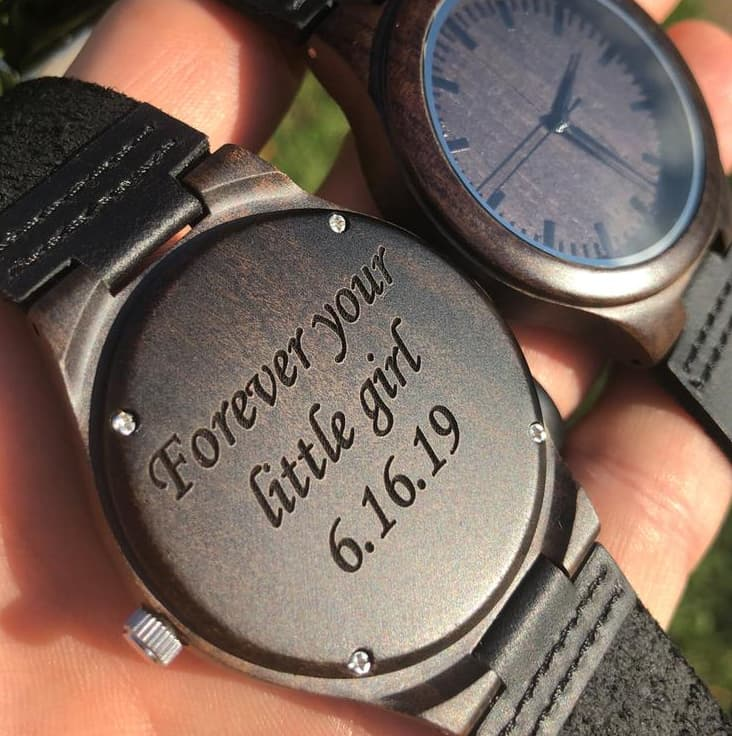 Custom Engraved Watch - Valentine Gift For Dad From Baby