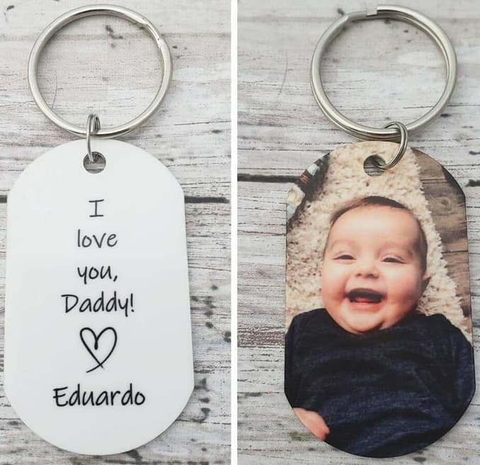 I Love You Daddy Keychain Gift For Dad