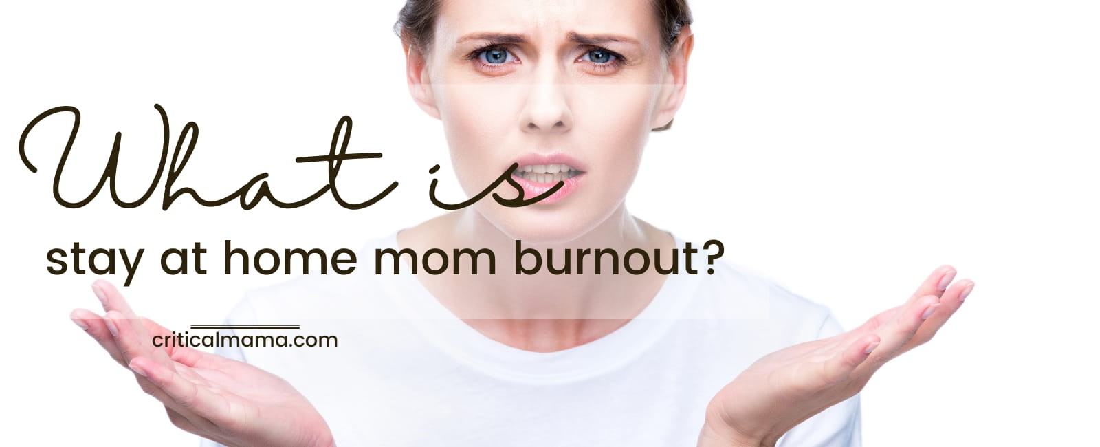 Lady Asking What Is Stay At Home Mom Burnout