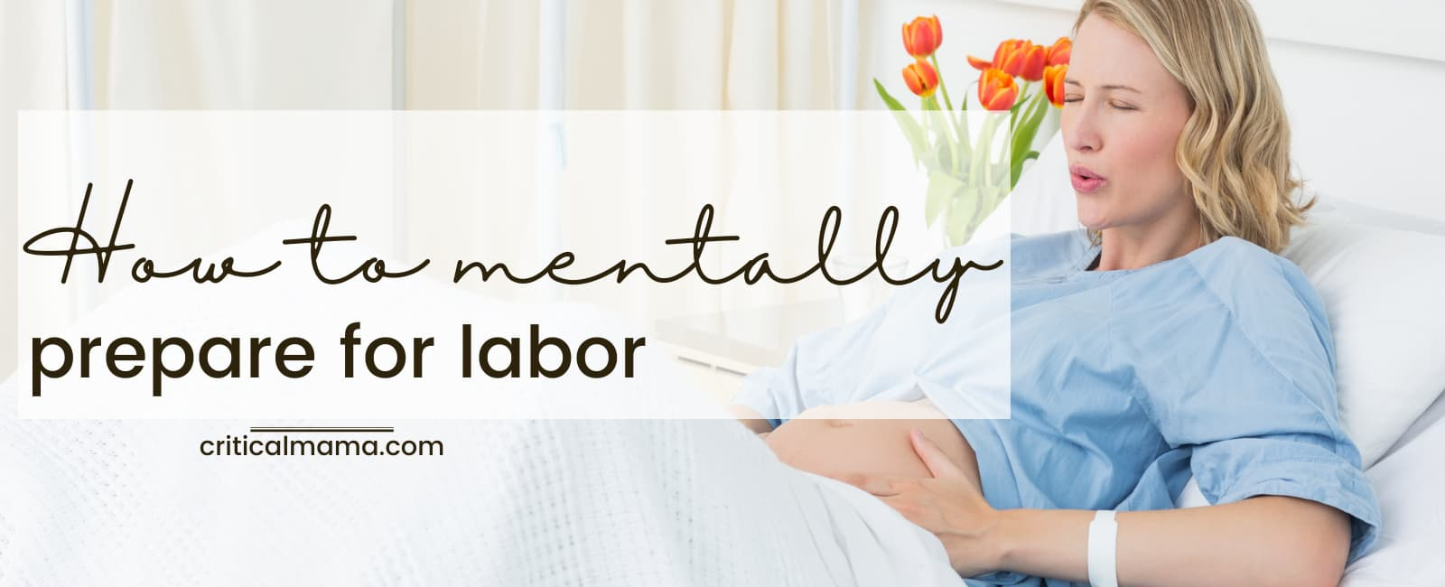 Pregnant Woman Preparing For Labor Mentally